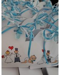 WA37 μπομπονιέρα για γάμο και βάπτιση μαζί